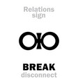 astrology break disconnect vector image vector image