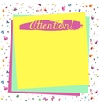 Attention yellow blank vector image