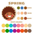 best colors for spring type children appearance vector image vector image