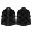 black quilted jacket with zipper closure vector image vector image