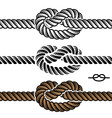 black rope knot symbols vector image vector image