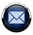Blue honeycomb mail icon vector image vector image