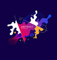 bright poster with dynamic waves vector image vector image