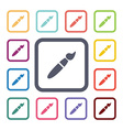 brush flat icons set vector image vector image