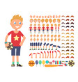 cartoon boy character creation constructor vector image vector image