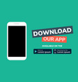 cellphone download app landing page smartphone vector image vector image