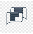chat concept linear icon isolated on transparent vector image