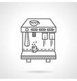 Espresso machine line icon vector image