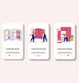 furniture online mobile app onboarding screens vector image vector image