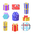 gift boxes christmas gift vector image vector image