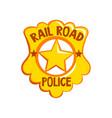 golden sheriff badge american justice emblem vector image vector image
