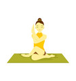 half lord the fishes pose yoga meditation vector image vector image