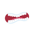 horror comic mouth expression vector image
