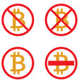 icons of bitcoin crypto currency symbols vector image vector image