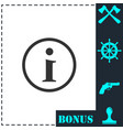 info icon flat vector image vector image