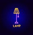 lamp neon label vector image