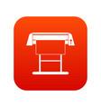 large format inkjet printer icon digital red vector image vector image