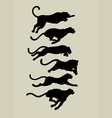 Leopard running silhouettes vector | Price: 1 Credit (USD $1)