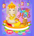 light indian holi holiday poster vector image