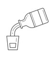medical syrup in measuring cup line icon vector image
