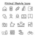 minimal lifestyle hipster icons set in thin line vector image vector image
