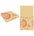 monocolor pizza box vector image vector image