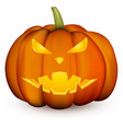 orange 3d halloween pumpkin on white vector image