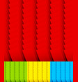 overlapping standing rectangles set of 3 vector image