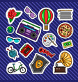 quirky style retro patches vector image vector image