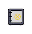 safe box flat icon sign symbol vector image