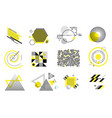 set modern abstract elements vector image vector image
