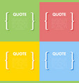 set of circle frames for quotes vector image