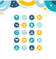 set simple icons aircraft vector image vector image