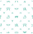 strong icons pattern seamless white background vector image vector image