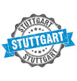 stuttgart round ribbon seal vector image vector image