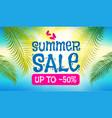 summer sale background shining sun warm sea vector image