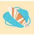 surfing board icon summer sea vacation concept vector image vector image