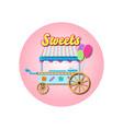sweets cart mockup vector image vector image