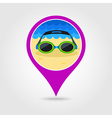 Swimming Goggles pin map icon Summer Vacation vector image vector image