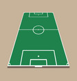 top and back view of soccer field green flat foot vector image