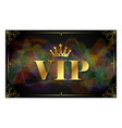 vip card design vector image