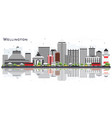 wellington new zealand city skyline with vector image vector image