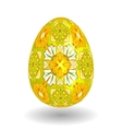 White Single Easter Egg with Abstract vector image vector image
