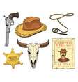 wild west rodeo show cowboy or indians vector image vector image