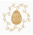 yellow or gold easter egg vector image