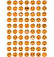 halloween pumpkin emoticons vector image