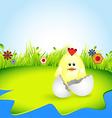 cute chiken vector image