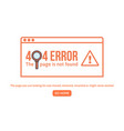 404 error design template 404 page is not found vector image vector image