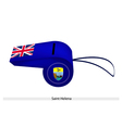A Beautiful Blue Whistle of Saint Helena vector image vector image