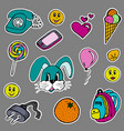 a set of fashion labels badges hare orange vector image